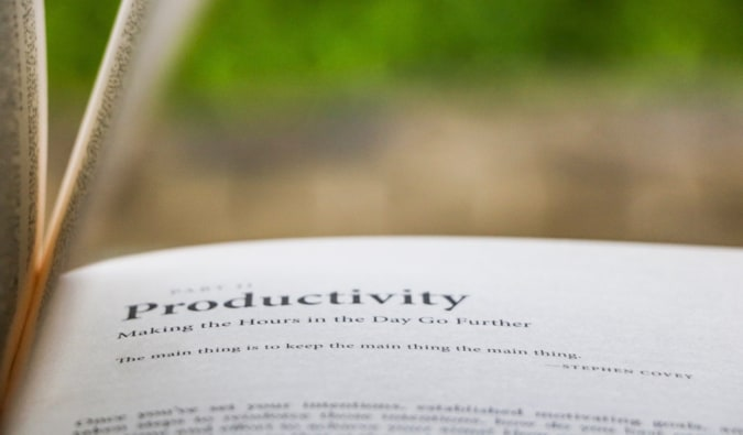 An excerpt from a book on productivity